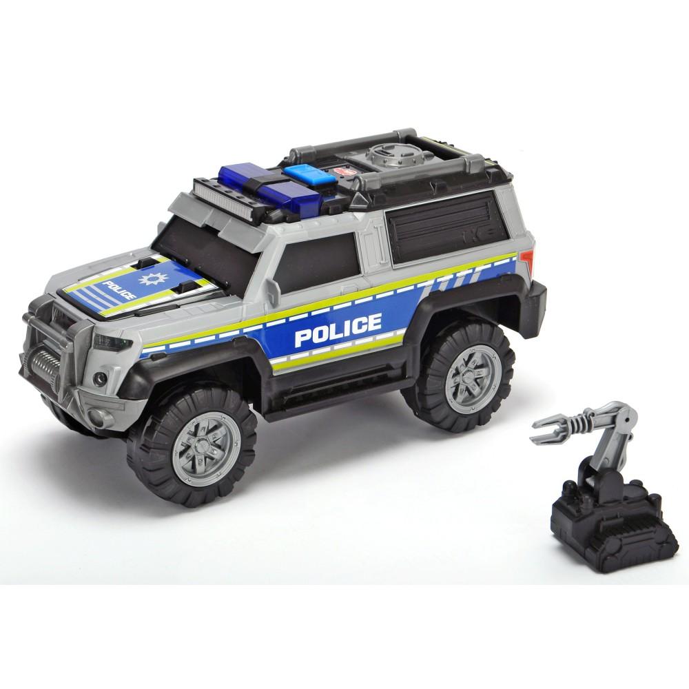 Dickie Action Series - Policja SUV Radiowóz srebrny 30 cm Światło Dźwięk 3306003