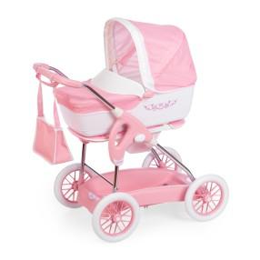 Smoby Inglesina - Wózek głęboki Spacerówka i gondola dla lalek 3w1 + torba Różowy 250582