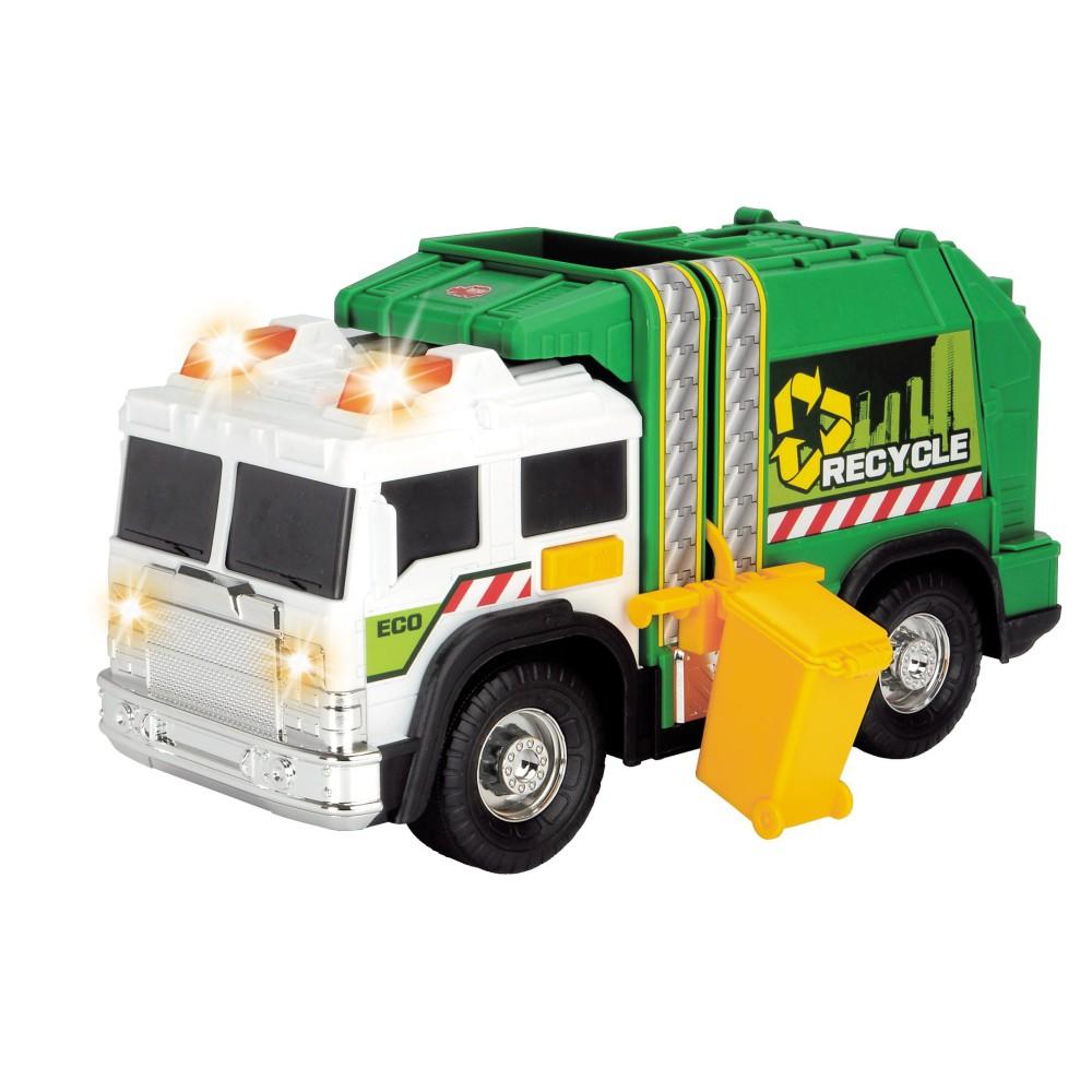 Dickie Action Series - Śmieciarka zielona z dźwiękiem i światłem 30 cm 3306006
