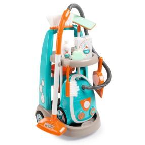 Smoby - Wózek do sprzątania z odkurzaczem 330309