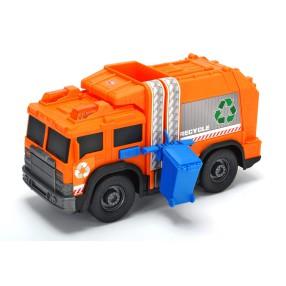 Dickie Action Series - Śmieciarka pomarańczowa z dźwiękiem i światłem 30 cm 3306001