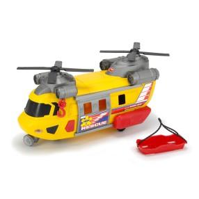 Dickie Action Series - Helikopter ratunkowy żółty 30 cm Światło Dźwięk 3306004