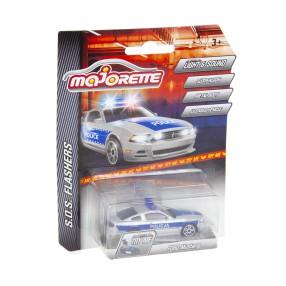 Majorette - SOS Flashers Samochód policyjny Ford Mustang ze światłem i dźwiękiem 2056002 02