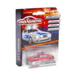 Majorette - SOS Flashers Samochód strażacki Chevrolet Silverado ze światłem i dźwiękiem 2056002 03