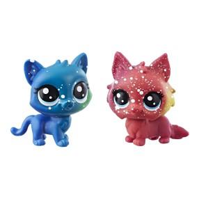 Littlest Pet Shop - Kosmiczne zwierzaki 2-Pak Kotki E2579