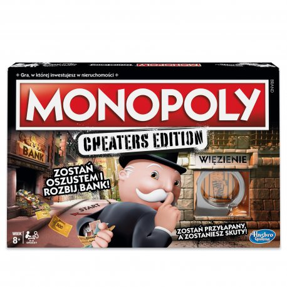 Hasbro - Gra Monopoly Cheaters Edition E1871