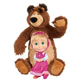 Simba Masza i Niedźwiedź - Zestaw Pluszowy Niedźwiedź Misza i Lalka Masza 9301016