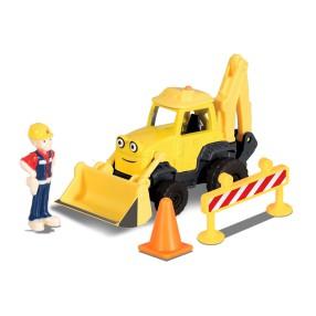 Dickie Bob Budowniczy - Metalowy pojazd koparka Scoop 1:64 + Figurka i Akcesoria 3131013 01