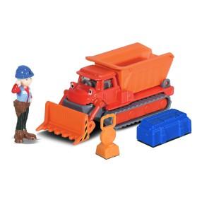 Dickie Bob Budowniczy - Metalowy pojazd spychacz Muck 1:64 + Figurka i Akcesoria 3131013 02