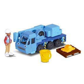 Dickie Bob Budowniczy - Metalowy pojazd dźwig Lofty 1:64 + Figurka i Akcesoria 3131013 03