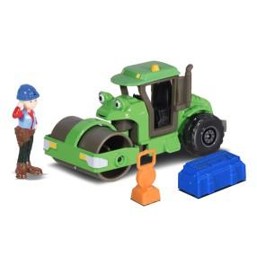 Dickie Bob Budowniczy - Metalowy pojazd walec Roley 1:64 + Figurka i Akcesoria 3131013 04