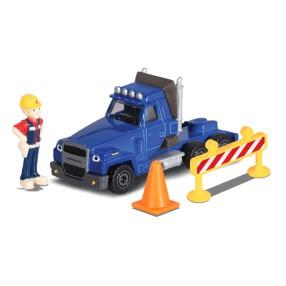 Dickie Bob Budowniczy - Metalowy pojazd ciężarówka Two Tonne 1:64 + Figurka i Akcesoria 3131013 05