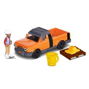 Dickie Bob Budowniczy - Metalowy pojazd terenówka Tread 1:64 + Figurka i Akcesoria 3131013 06