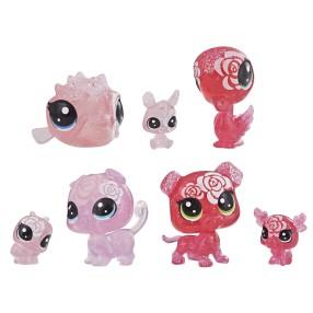 Littlest Pet Shop - Kwiatowe figurki Różane przyjęcie 7-pak E5162