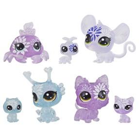 Littlest Pet Shop - Kwiatowe figurki Hortensjowe przyjęcie 7-pak E5163