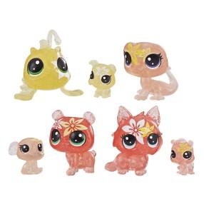 Littlest Pet Shop - Kwiatowe figurki Liliowe przyjęcie 7-pak E5164