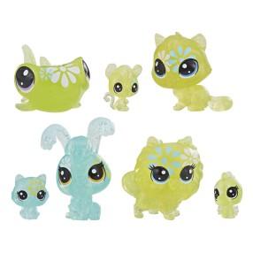 Littlest Pet Shop - Kwiatowe figurki Stokrotkowe przyjęcie 7-pak E5165