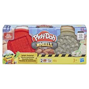 Play-Doh Wheels - Ciastolina Tuby budowlane Cegła i kamienie E4524