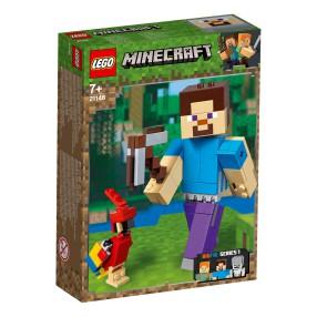 LEGO Minecraft BigFig - Steve z papugą 21148