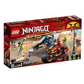 LEGO Ninjago - Motocykl Kaia i skuter Zane'a 70667