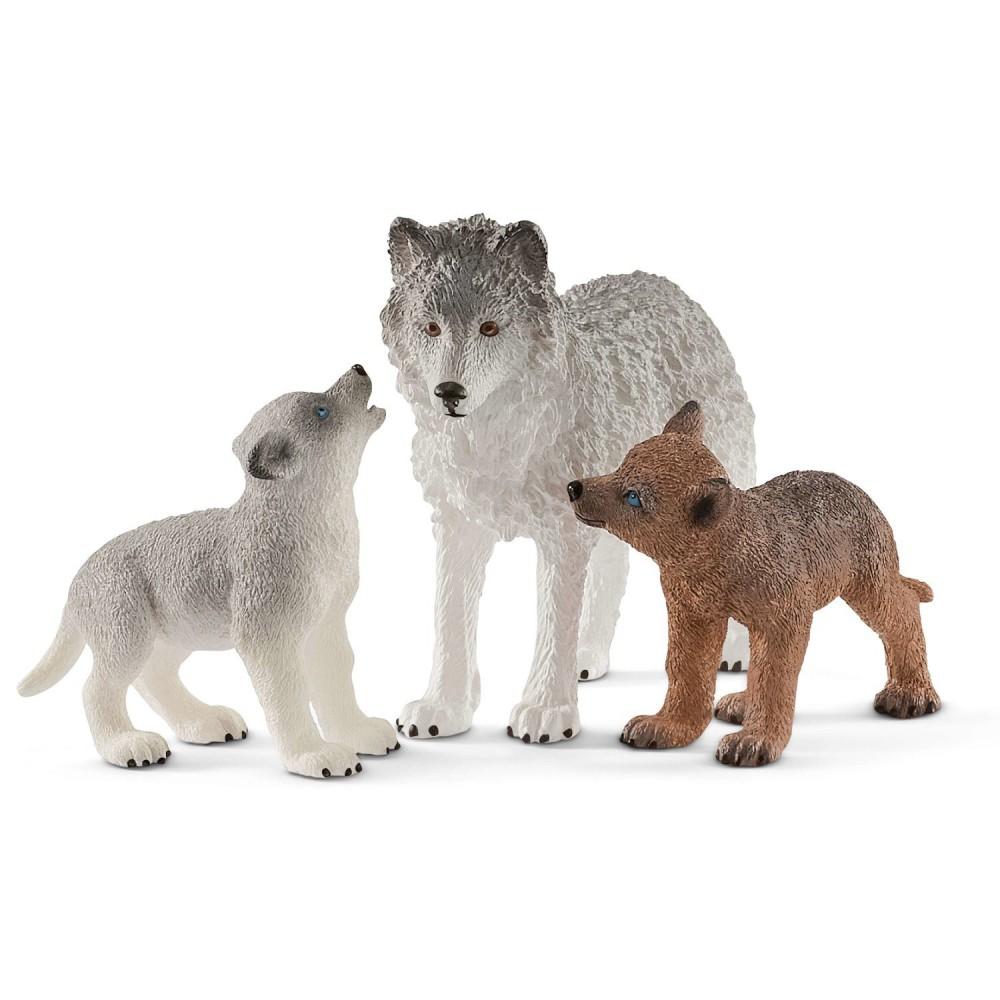 Schleich - Samica wilka z młodymi 42472
