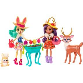 EnchanTimals - Ogrodowe czary Lalka Danessa Deer i Fluffy Bunny FDG01