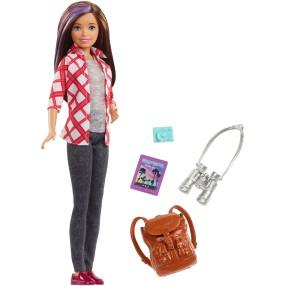 Barbie Dreamhouse Adventures - Lalka Skipper z plecakiem w podróży + Akcesoria WV17