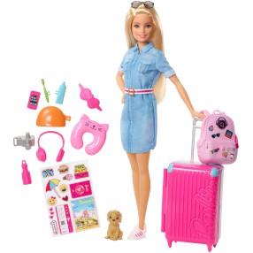 Barbie Dreamhouse Adventures - Lalka w podróży z pieskiem FWV25