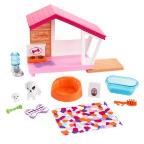 Barbie - Zestaw legowisko dla zwierząt + Akcesoria FXG34