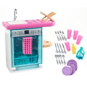 Barbie - Zestaw zmywarka do kuchni + Akcesoria FXG35
