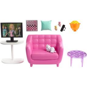 Barbie - Zestaw wypoczynkowy do salonu + Akcesoria FXG36