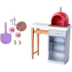 """Barbie - Zestaw ogrodowy piec do pizzy z """"cegieł"""" + Akcesoria FXG39"""