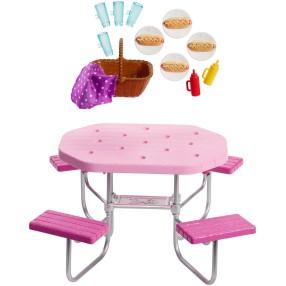 Barbie - Zestaw ogrodowy stół piknikowy + Akcesoria FXG40