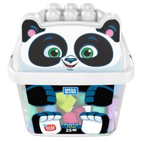 Mega Bloks Fisher-Price - Wesoła Panda z klockami w pojemniku GCT47