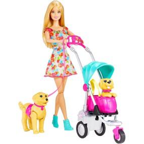 Barbie - Spacer z pieskami Zestaw Lalka + Akcesoria CNB21