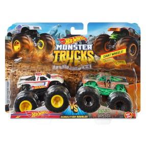 Hot Wheels Monster Truck - Metalowe Pojazdy Dwupak Hot Wheels vs Baja Buster GBT71