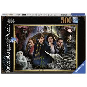 Ravensburger - Puzzle Harry Potter Fantastyczne Zwierzęta Zbrodnie Grindelwalda 500 elem. 148202