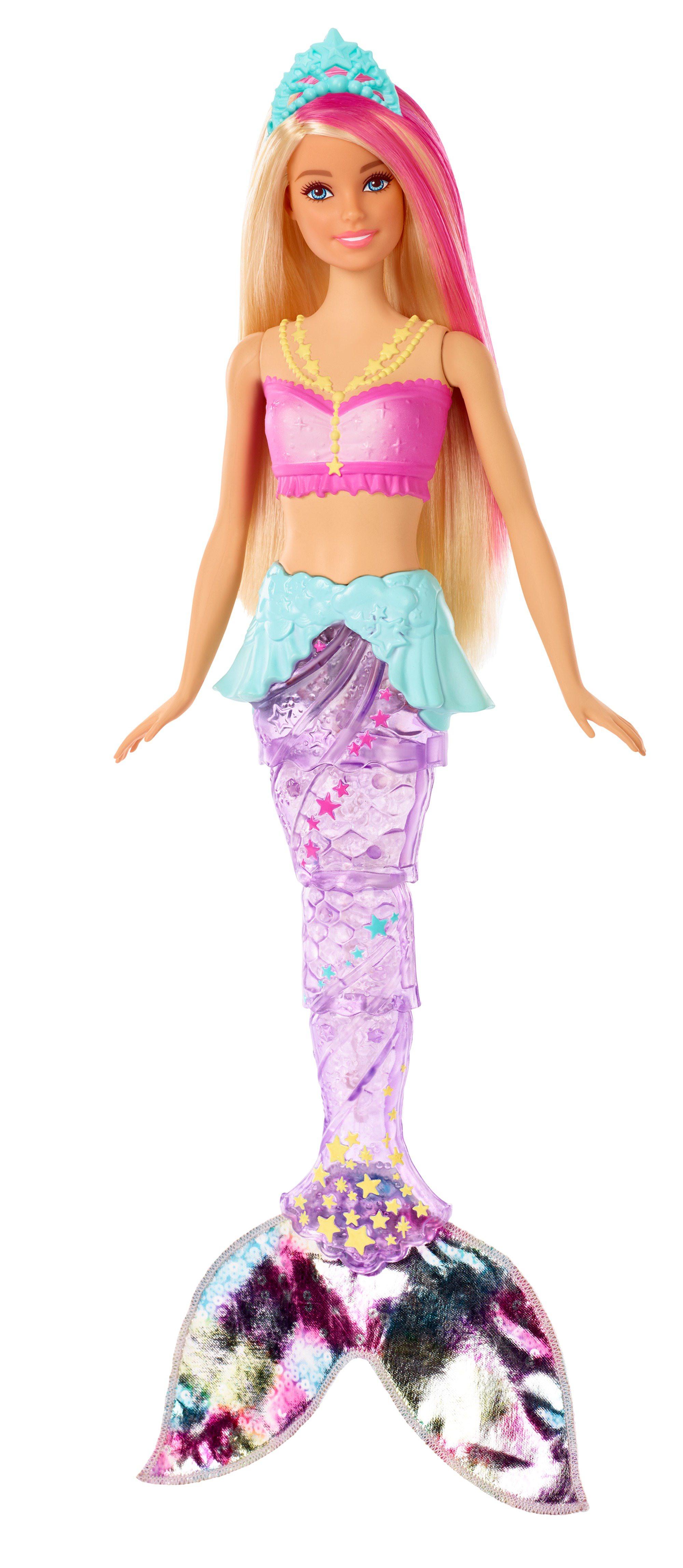 4da7f9b23 Barbie Dreamtopia - Magiczna Syrenka z falującym i świecącym ogonem GFL82