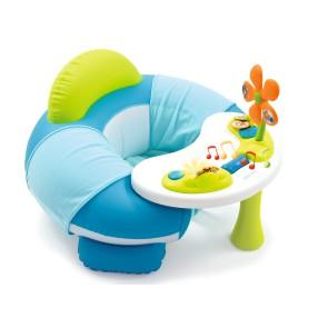 Smoby Cotoons - Siedzonko Fotelik zabaw z interaktywnym stoliczkiem Niebieskie 110201 A
