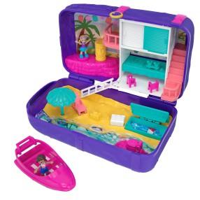 Polly Pocket - Ukryte Światy Plecaczek z Zestawem Zabawa na Plaży FRY40