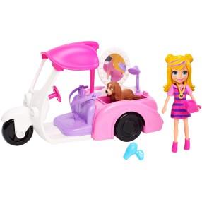 Polly Pocket - Zestaw Mobilny salonik dla zwierzaków z lalką i pieskiem GDM10