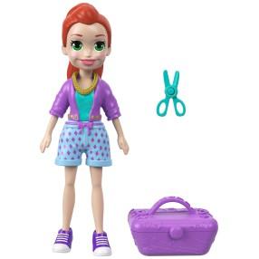 Polly Pocket - Lalka Lila z walizką i nożyczkami FTP71