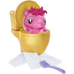 Mattel Pooparoos - Toaleta z niespodzianką Figurka Zwierzątko Jednorożec + Akcesoria GCW82