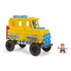 Little Tikes - Klocki Waffle - Zestaw Autobus szkolny 644467