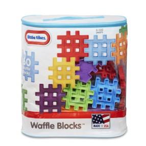 Little Tikes - Klocki Waffle - Zestaw 60 elementów w torbie 645334