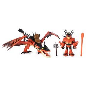 Spin Master Dragons - Zestaw figurek smok z Wikingiem Hakokieł i Sączysmark 20103710
