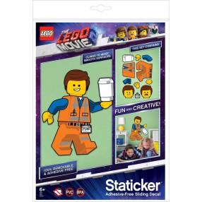 LEGO Movie 2 - Staticker Emmet Ruchoma układanka na ścianę lub szybę 52370