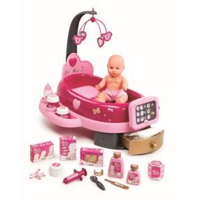 Smoby Baby Nurse - Elektroniczny Kącik Opiekunki + Lalka 220317