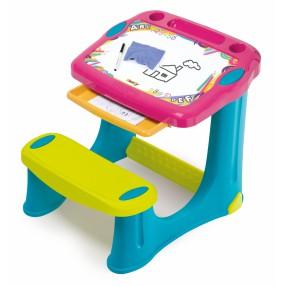 Smoby - Stolik z tablicą i wysuwaną szufladą Różowy 420219