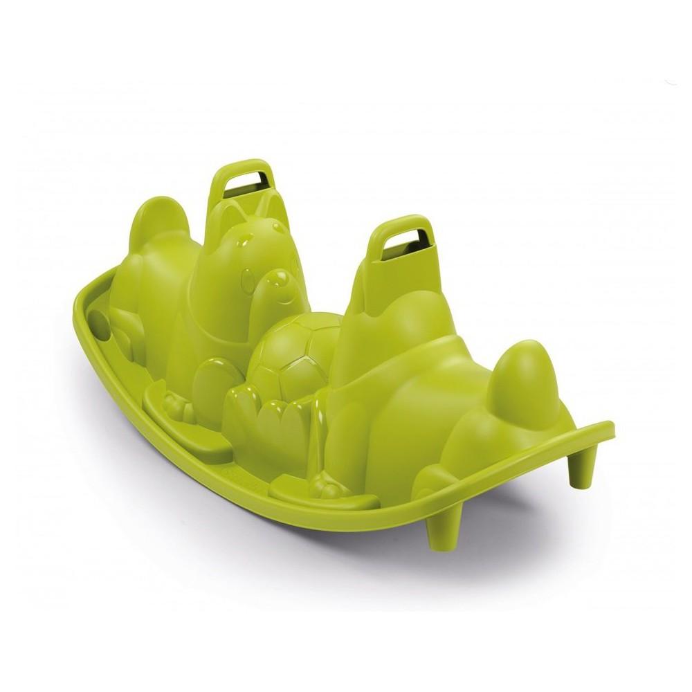 Smoby - Huśtawka - bujak Piesek Zielony Powłoka UV 830201